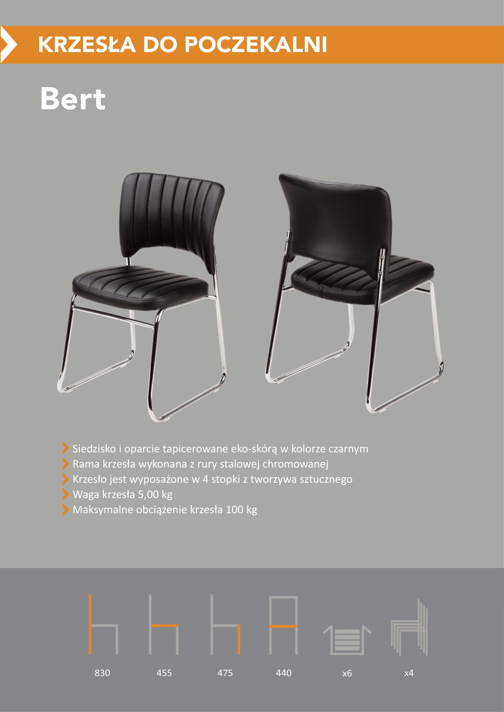 Krzesło stacjonarne do poczekalni