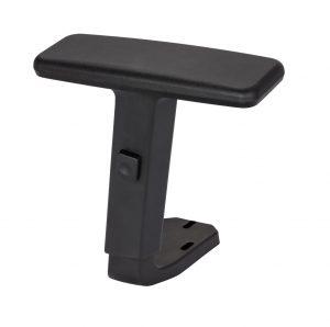 Podłokietnik regulowany do krzesła biurowego.